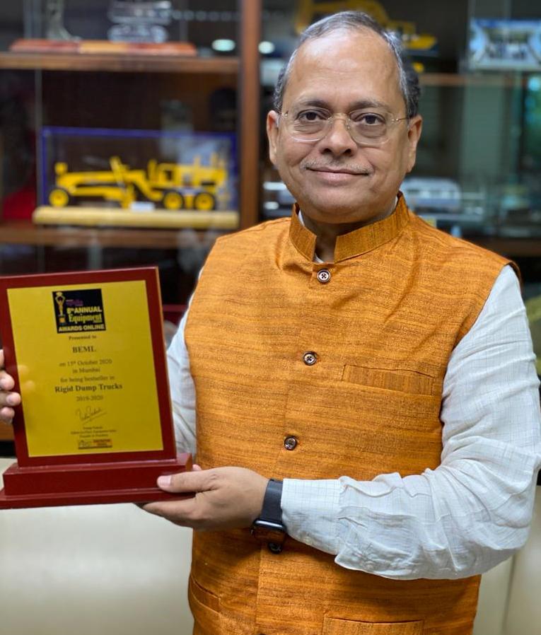 BEML wins awards at 8th Annual Equipment India Awards 2020