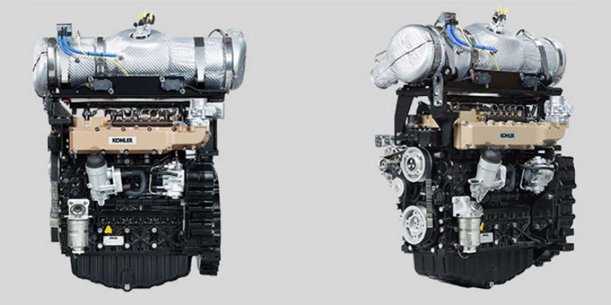 Kohler introduces KDI 3404TCR SCR compact engine can reach 112 KW at 1800 rpm.