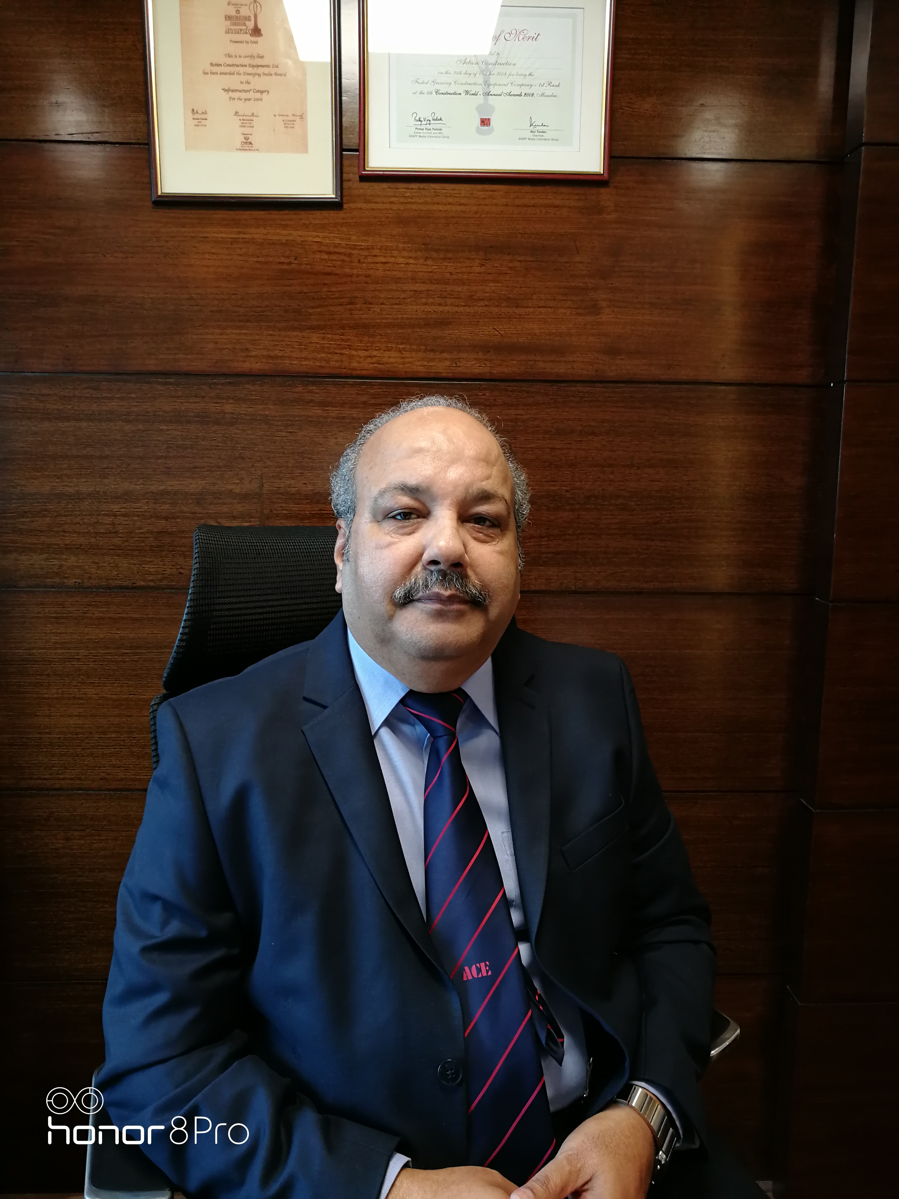 Pradeep Sharma, President of Action Construction Equipment (ACE), passed away on August 5, 2020.