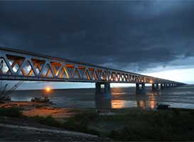 Here's how Bogibeel Bridge was constructed!