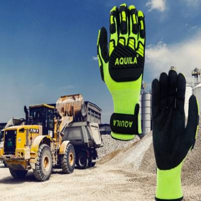 Aquila has developed TOG5V gloves in anti-vibration Hi-vis, cut resistant glove for hazard protection and to provide extra grip.