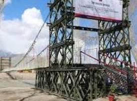 Longest suspension bridge over Indus opens for public