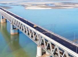 India's Longest Rail-Road Bridge