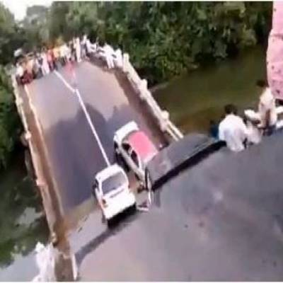 Five vehicles fall into gap as bridge near Malanka village collapses, four injuries reported