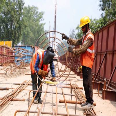 100th pile foundation completed on17 km priority section of Delhi Meerut RRTS