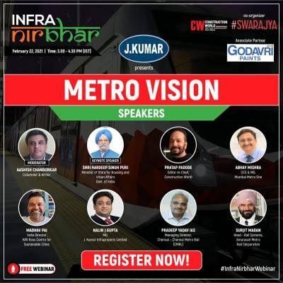 "Infra-Nirbhar webinar series kicks off with ""Metro Vision"""