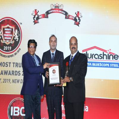 DURASHINE® from Tata BlueScope Steel is India's Most Trusted Brand 2019.