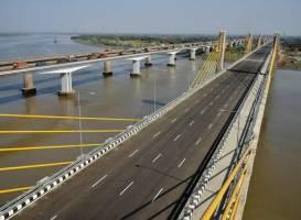 Heavy equipment for bridge construction