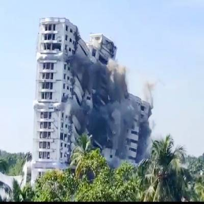 Kerala Skyscrapers demolished over environmental violations