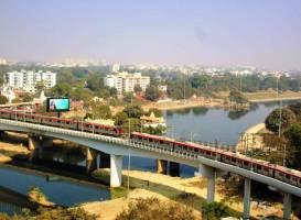 Lucknow Metro's N-S Corridor 23-km stretch