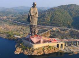 Constructed in a record 33 months, the world's tallest statue stands at 182 metre