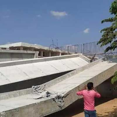 Flyover under construction collapses in Karnataka's Hassan